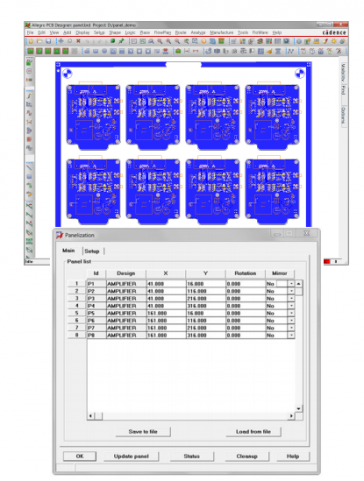 Effective Panelization inside OrCAD / Allegro PCB Editor